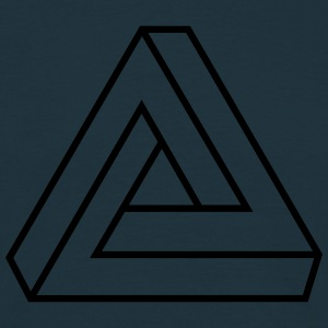 Penrose triangle, Impossible, illusion, Escher Tröjor - T-shirt herr