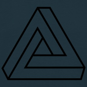 Penrose triangle, Impossible, illusion, Escher Pullover & Hoodies - Männer T-Shirt