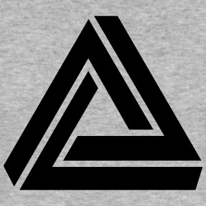 Penrose triangle, Impossible, illusion, Escher Felpe - Maglietta aderente da uomo