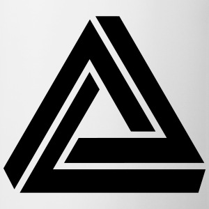Penrose triangle, Impossible, illusion, Escher Camisetas - Taza