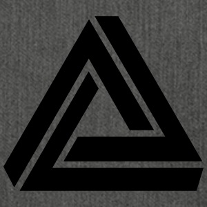 Penrose triangle, Impossible, illusion, Escher Sudaderas - Bandolera de material reciclado
