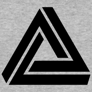 Penrose triangle, Impossible, illusion, Escher Tröjor - Slim Fit T-shirt herr