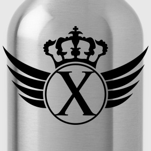 Letter X Blazon T-Shirts - Water Bottle