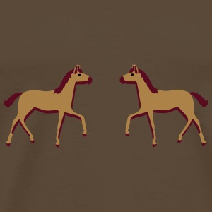 two foals Bags & backpacks - Men's Premium T-Shirt