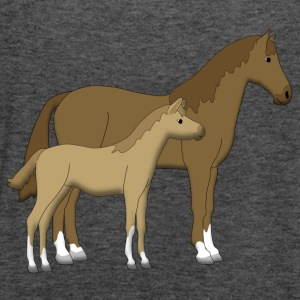 horse and foal brown Sweatshirts - Dame tanktop fra Bella