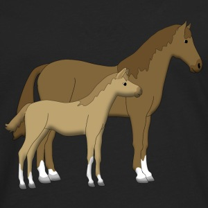 horse and foal brown Sudaderas - Camiseta de manga larga premium hombre