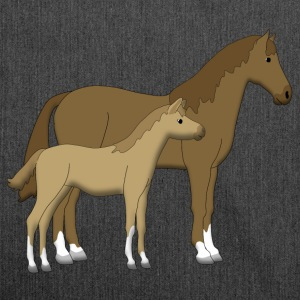 horse and foal brown Sweat-shirts - Sac bandoulière 100 % recyclé