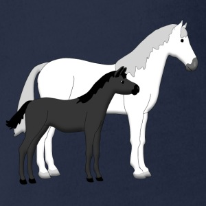 horse and foal white and black Shirts - Baby bio-rompertje met korte mouwen
