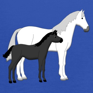 horse and foal white and black Tee shirts - Débardeur Femme marque Bella