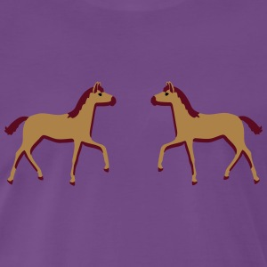 two foals Sweaters - Mannen Premium T-shirt