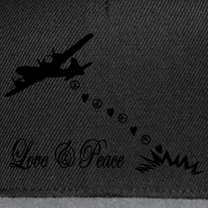 bomber love and peace T-Shirts - Snapback Cap