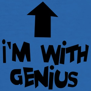 I'm with genius Teddies - Men's Slim Fit T-Shirt