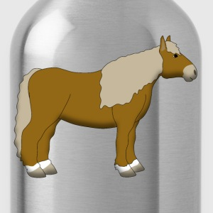 cold-blooded horse lightbrown Shirts - Water Bottle
