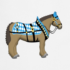 bavarian cold-blooded horse  Shirts - Keukenschort