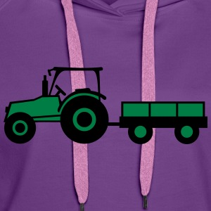 Tractor With Trailer T-shirts - Vrouwen Premium hoodie