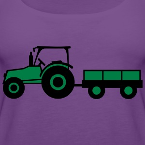 Tractor With Trailer T-skjorter - Premium singlet for kvinner