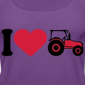 I Love Tractor T-shirts - Vrouwen Premium tank top