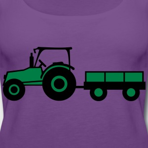 Tractor With Trailer T-shirts - Premiumtanktopp dam