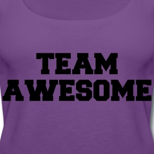 Team Awesome Logo T-Shirts - Women's Premium Tank Top