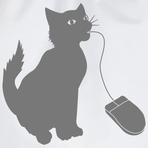 PC mouse eating cat  T-Shirts - Drawstring Bag