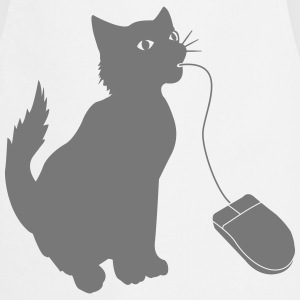 PC mouse eating cat  T-Shirts - Cooking Apron