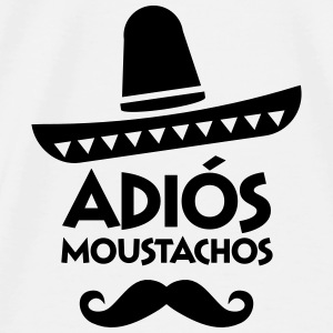 Adiós Moustachos Bags & backpacks - Men's Premium T-Shirt