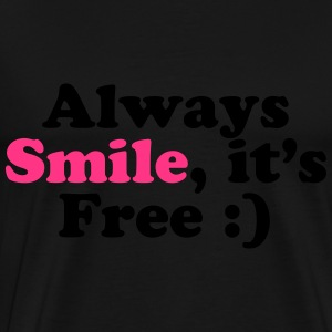 Always Smile Tröjor - Premium-T-shirt herr
