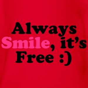Always Smile Pullover & Hoodies - Baby Bio-Kurzarm-Body