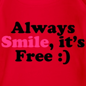 Always Smile Tee shirts - Body bébé bio manches courtes