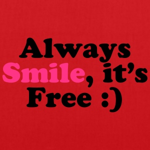 Always Smile Shirts - Tas van stof