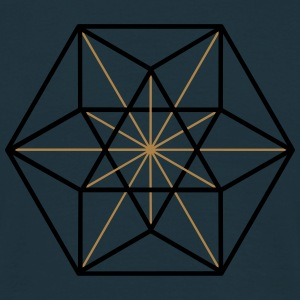Cuboctahedron, vector equilibrium, Metatrons cube Hoodies & Sweatshirts - Men's T-Shirt