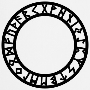 Rune Circle, Magical, Symbol, Futhark, Old Norse,  T-shirts - Förkläde