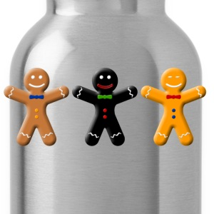 Gingerbread races  T-Shirts - Water Bottle