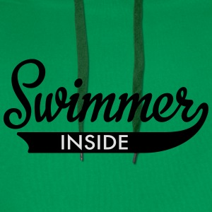 swimming T-Shirts - Men's Premium Hoodie