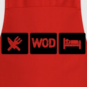 Eat WOD Sleep - Crossfit Camisetas - Delantal de cocina
