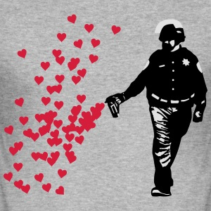 Stencil Polizei - Streetart Pepper Spray Cop Herz Pullover & Hoodies - Männer Slim Fit T-Shirt