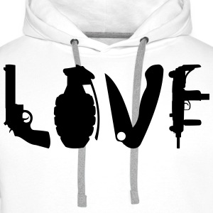 LOVE Weapons T-Shirts - Männer Premium Hoodie