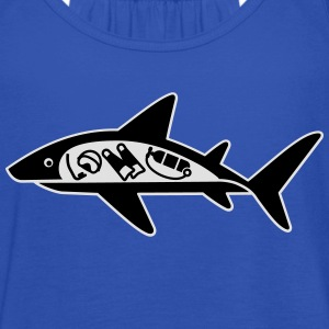 Shark ate scuba diver T-Shirts - Women's Tank Top by Bella
