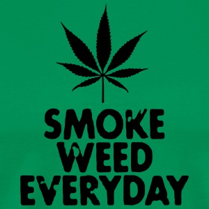 smoke weed everyday leaf  Aprons - Men's Premium T-Shirt