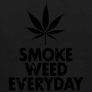 smoke weed everyday leaf Tröjor - Premium-T-shirt herr