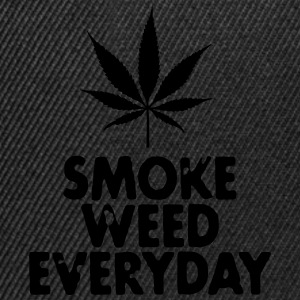 smoke weed everyday leaf Sweatshirts - Snapback Cap