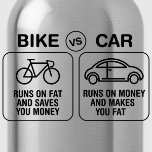 Bike VS Car T-Shirts - Water Bottle
