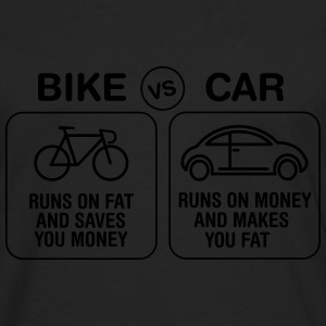 Bike VS Car T-Shirts - Männer Premium Langarmshirt