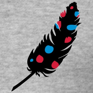 A feather with colorful dots Hoodies & Sweatshirts - Men's Slim Fit T-Shirt