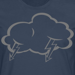 Lightning  cloud  T-Shirts - Men's Premium Longsleeve Shirt