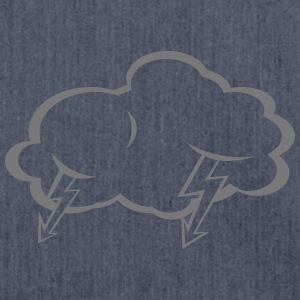 Lightning  cloud  T-Shirts - Shoulder Bag made from recycled material