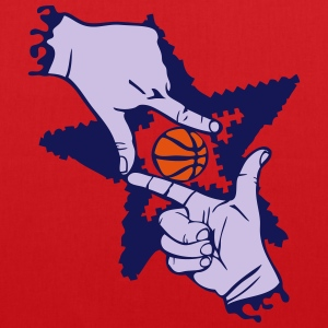 Basketball Finger hand form T-Shirts - Stoffbeutel