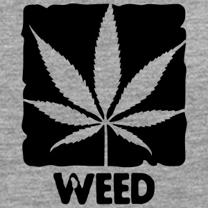 weed with boxed leaf Tee shirts - T-shirt manches longues Premium Homme