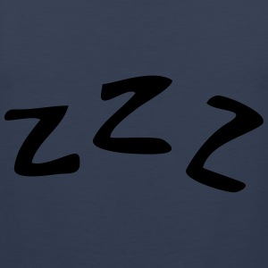 Sleeping ZZZ T-skjorter - Premium singlet for menn