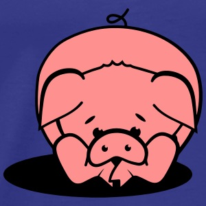 A pig lies on the floor Hoodies - Men's Premium T-Shirt